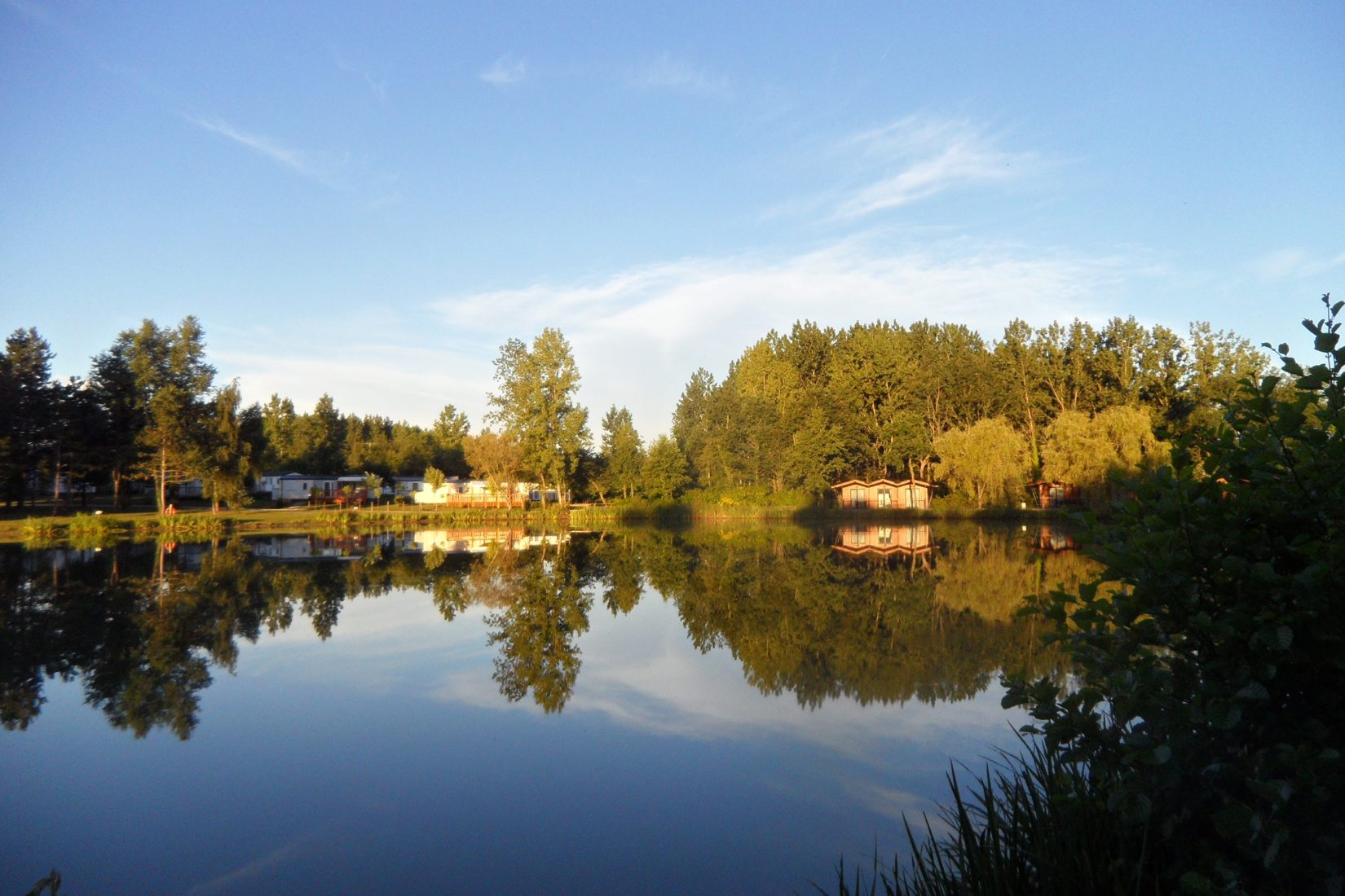 Photo de l'étange du camping Campilô à la Roche sur Yon