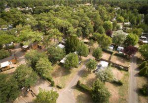 Photo vue aérienne camping la Parée Préneau à Saint hilaire de Riez