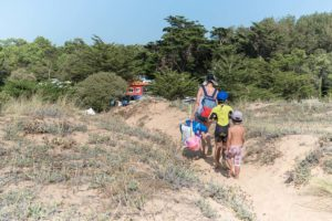 accès direct plage camping