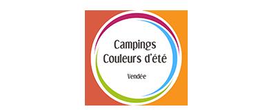 logo camping couleurs d'été en Vendée
